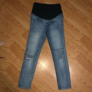 "H&M ""Mama skinny high rib ankle"" Jeans Sz 6"